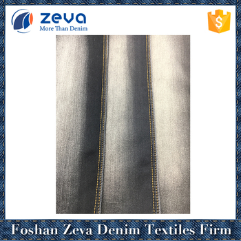 Professional factory stock denim fabric for girls jeans wholesale