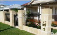 Powder coated Galvanized metla gates and steel fence design