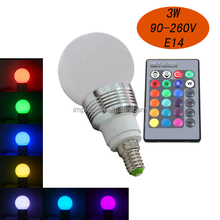 Fast delivery Time e27 remote control 16 color rgb led bulb light
