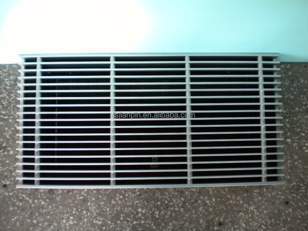 metal floor air return grille for ventilation