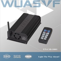 Car siren amplifier with wireless control
