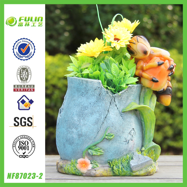 BV Factory Bee Resin Garden Animal Shape Planter