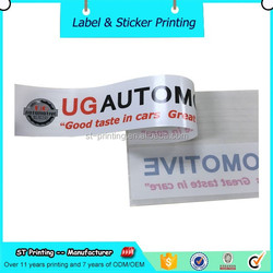 Newest design waterproof clear promotion labels,glue sided printing labels sticker