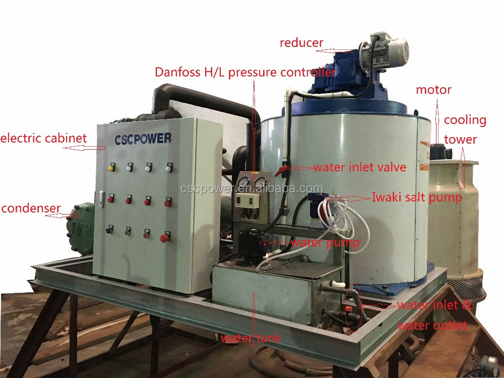 cscpower industrial ice machines for sale 3T flake ice
