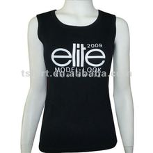 Promotional women black tank top for export