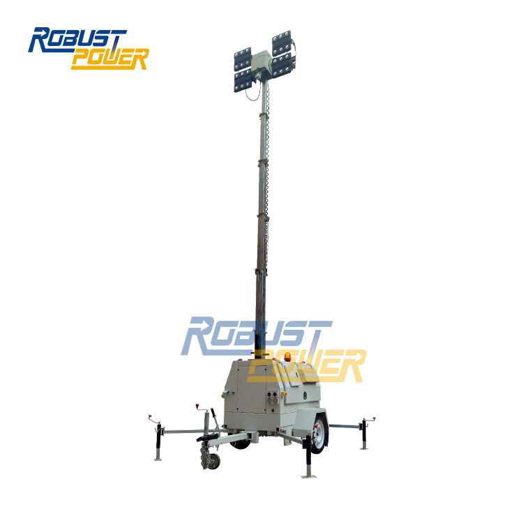 Australia Mining 10M Dual Axles Portable LED Mobile Lighting Tower
