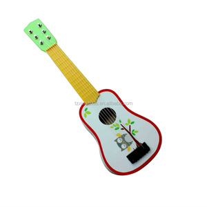 certificated educational musical preschool wooden guitar toys for kids