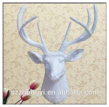 2014 China Supplier hot new products resin white deer head,wholesale animal heads wall decor