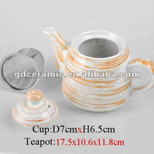 Ceramic Teapot With Tea Strainer