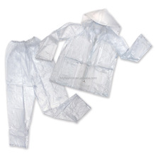 PVC Waterproof Clear Plastic Rain Suit For Motorcycle