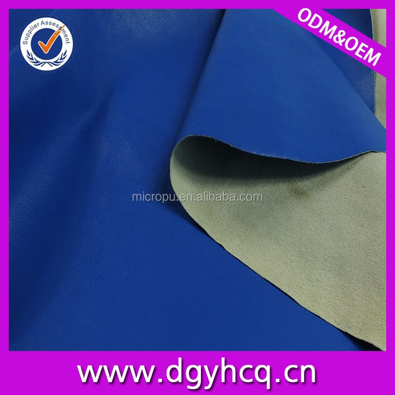 0.4mm thinnest imitation sheepskin micro pu leather for garment