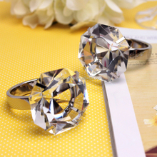Discount Wedding Decorations Diamond Napking Ring Holder Crystal Tableware Napkin Ring