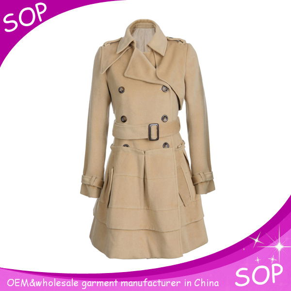 Wholesale women clothes for long wool winter ladies wedding dress coats
