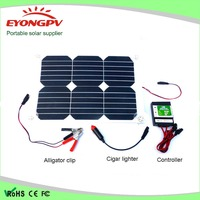 18w solar car battery semi flexible solar cell solar module