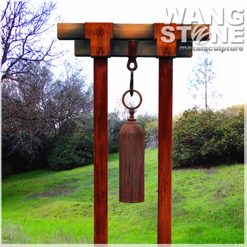 Corten Steel Garden Ornament Metal Windchime