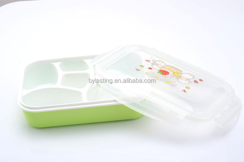 5 in 1 Lunch box Food Container Bento Box with soup bowl Light and Easy to clean
