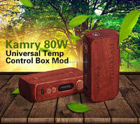 alibaba best seller electronic cigarette 80w kamry tc 80w pure Wood Box Mod with rebuildable 18650 battery 2200mah on sale