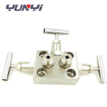 Stainless steel 3 way gas water valve manifold