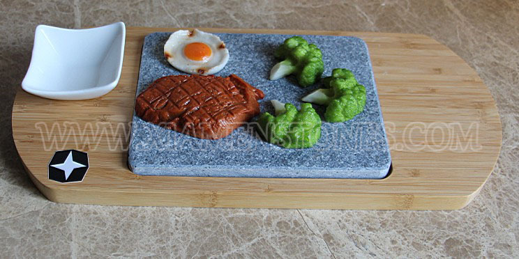 Basalt steak grill plate cooking stone kitchen accessories lava stone for cooking
