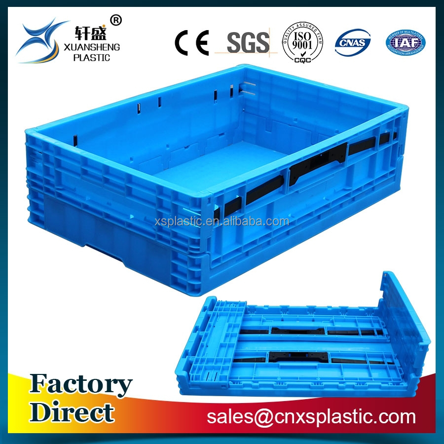 Industrial plastic folding container