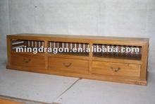 chinese antique wood color TV cabinet