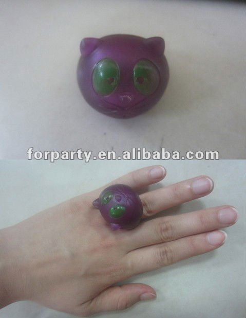 LR-022 Glow Jelly Cat Rings