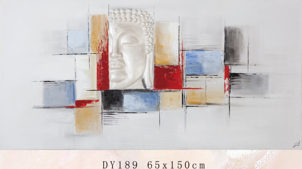 DY189 buddha face painting, abstract modern art buddha oil painting for decor