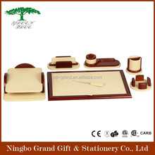 Decorative High Quality PU Leather Office Table Accessories