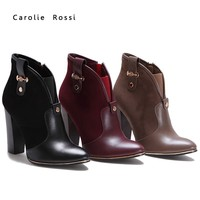 Russian high quality fashionable high heel sexy hot girl club wear winter boots