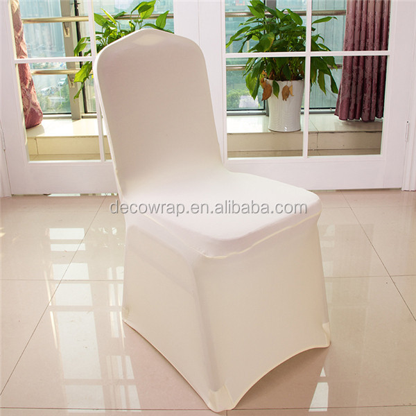 wholesale white wedding lycra/spandex cheap chair cover with front arch/housses de chaise