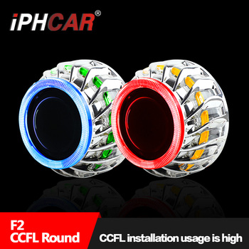 IPHCAR Double Angel Eyes Hid Xenon Light High Low beam Projctor Hid Light