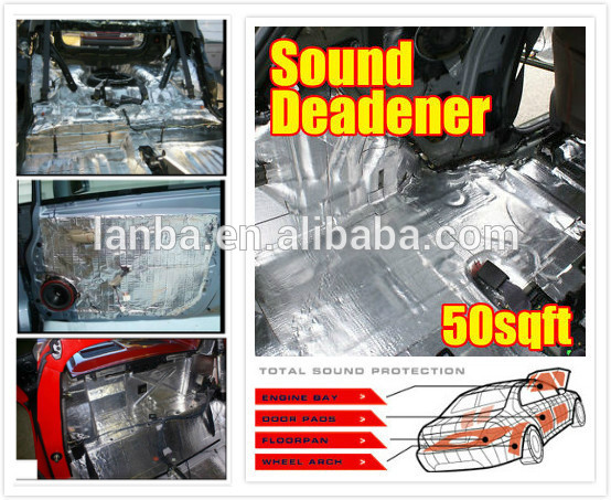 self-adhesive car soundproofing rubber foam engine hood insulation