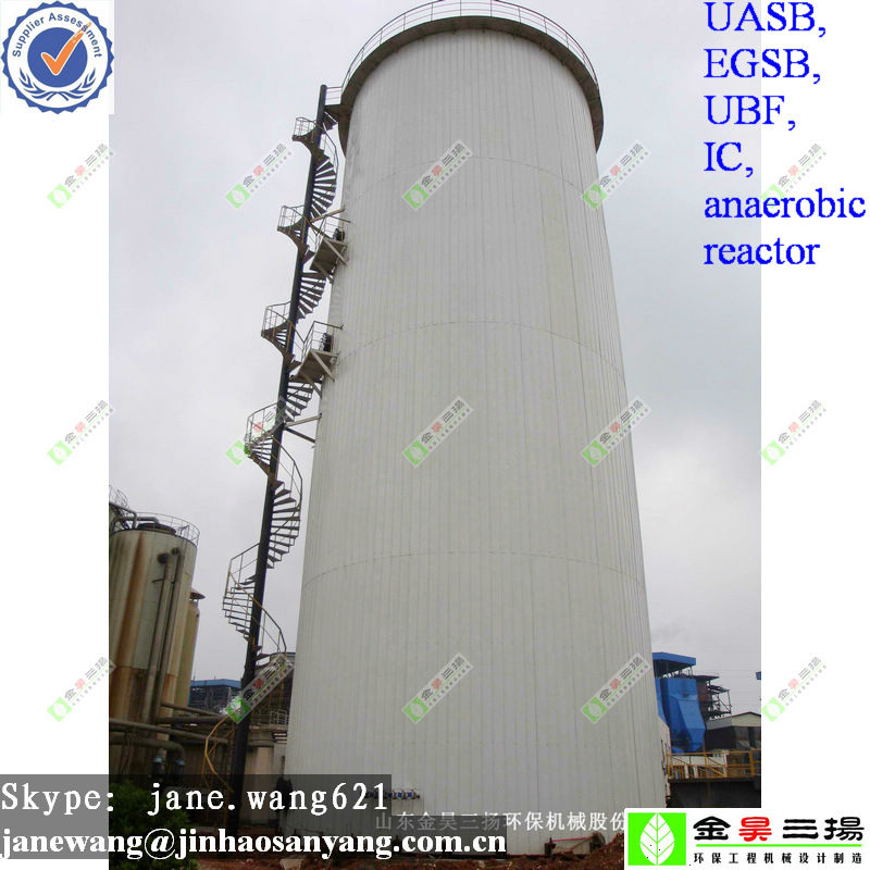 EGSB anaerobic digester biogas reactor