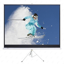 China Factory Wholesale Matt White Portable Mobile Tripod Standing Projector Screen / Projection Screen For Outdoor