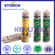 Weather-proof silicone sealant adhesives or bonds two items together