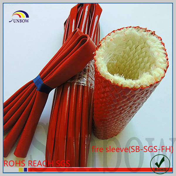 Electric Wire Protect Tube Silicone Rubber Coated Fiberglass Sleeves