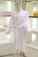 cotton velvet stripe bathrobe for hotel