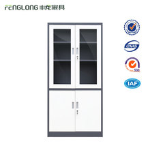 key safety storage steel cabinet glass metal doors file cabinet with lock