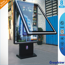 Outdoor advertising signage free standing LED light box advertising display