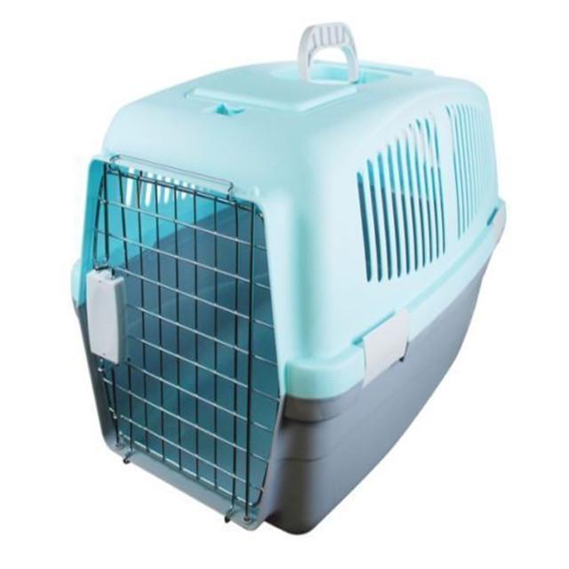 Large Pet Carrier Plastic Travel Basket Crate Carry Handle Cat Dog ...