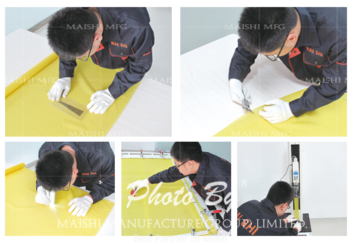 Polyester Screen Printing Mesh Silk Fabric