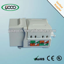 A58 Factory supply Cat5e Punch Down type Keystone Jack with 90 degree