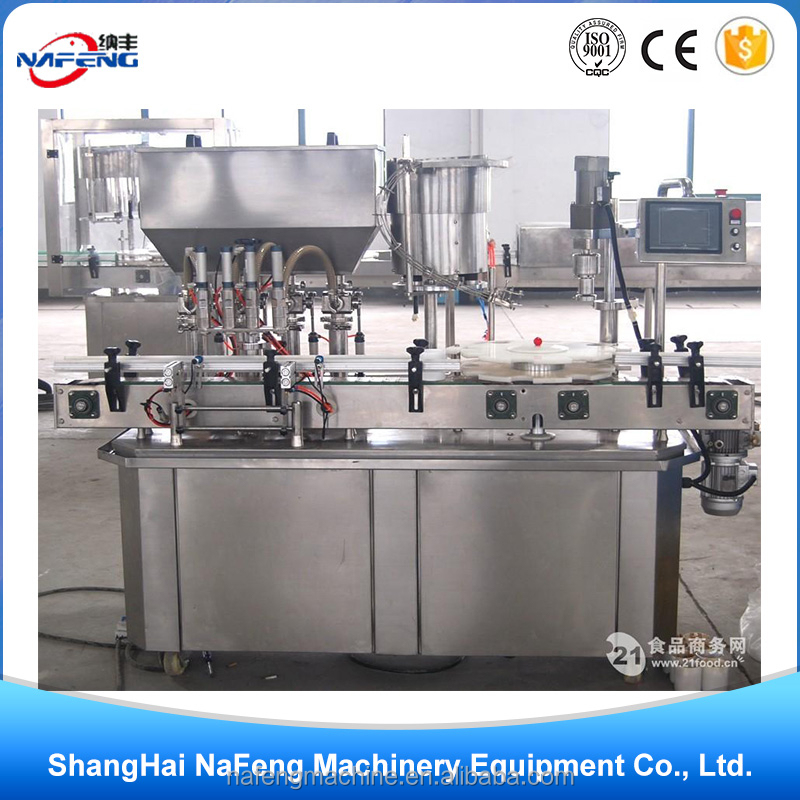 Time-saving Commodities liquid spray filling and capping production line