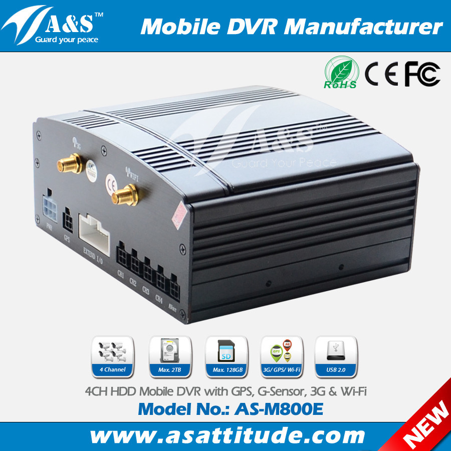Cheap 4CH Hard Drive Mini Mobile DVR With Free CMS Software