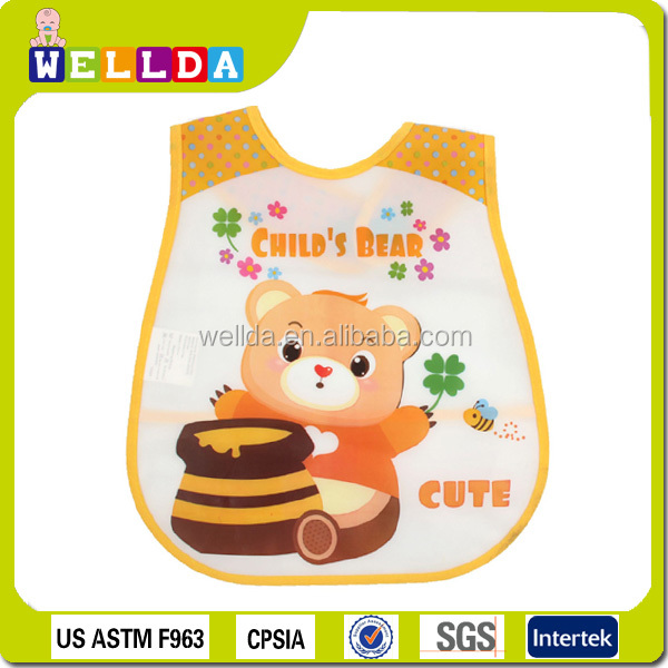Custom wholesale pocket washable waterproof silicone baby bib