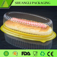 New PET material clear plastic cake plate with cover