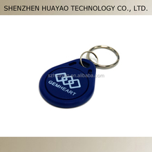 Customized logo printing RFID keytags / 125KHz rfid keyfob for access control