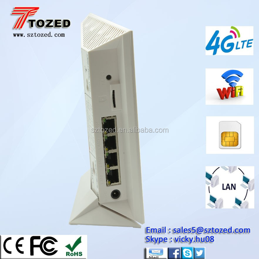 4G FDD Lte WiFi Wireless internet Router with SIM Card and SD Storage Card Slot