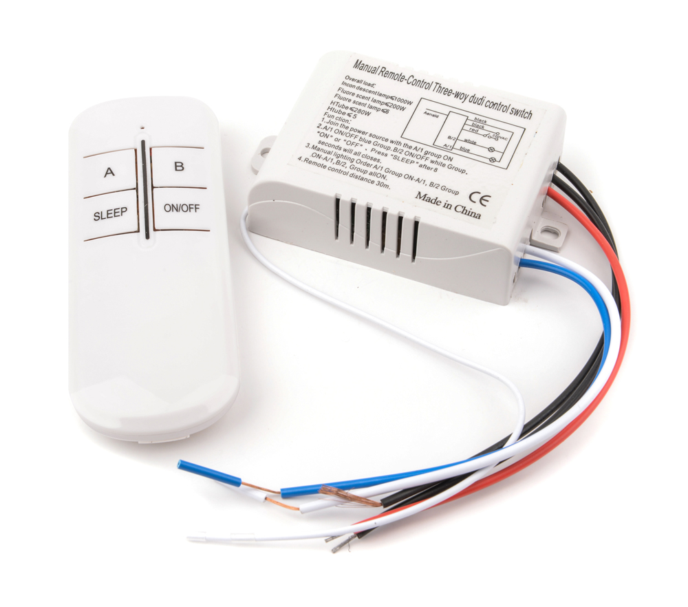220V 3 Ways ON/OFF Wireless Remote Control Switch Digital Remote Control Switch for Lamp & Light