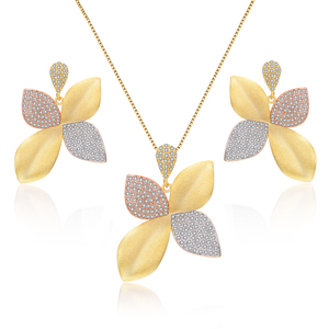 New Arrival Wholesale Costume Fashion 18K Gold Plated Jewelry Sets Women